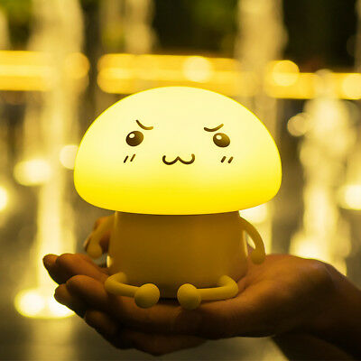 LuxLumi Mushroom Silicone Travel Rechargeable Portable Kids LED Camp Night Light