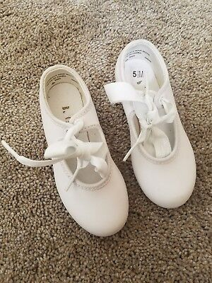 Bloch Girls Tap Toe Tap Shoes Size 5.5 medium white tap shoes new, dance shoes