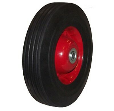 "10"" inch Solid Rubber Dolly Wheels Tire Rim wheel Hard Heavy duty cart"