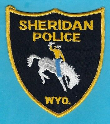 Sheridan Police Dept Patch ~ Wyoming ~ Very Old Patch From Private Collection