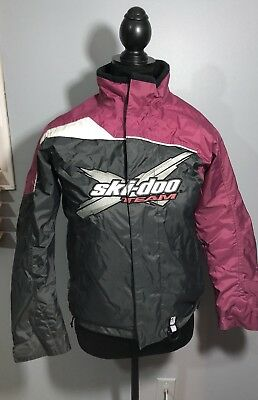 Youth Size 12 Ski-doo Team Snowmobiling Winter Jacket Pink