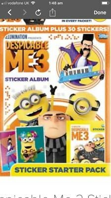 Full Box * 50 Packets of Stickers Despicable Me 2 Sticker Album Collection