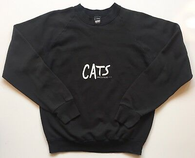 Size Medium Vintage '81 Cats Broadway Crew Neck Sweatshirt Screen Stars New York