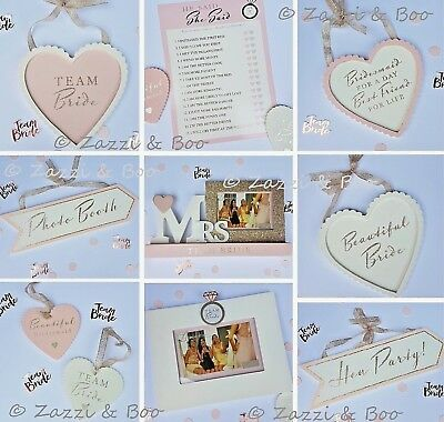 Team Bride To Be Hen Party Bags Favours Gifts Tattoos Balloons Rose Gold Pink