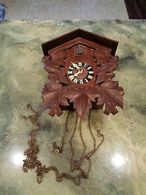 Vintage Beautiful Regula 614 Eight 8 Day Cuckoo Clock Made in Germany VTG