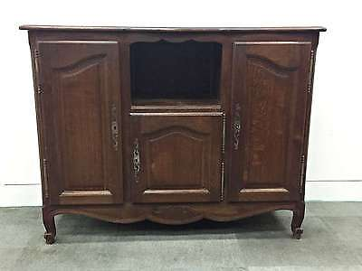 French Vintage Buffet Sideboard Oak Louis Style Storage Television Stand - OK104