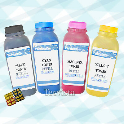 1 Set Color Toner Refill Kit W/ CHIPS for Samsung CLP-300 CLX-2160N CLX-3160FN