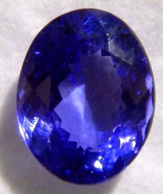 Tanzanite Fine Natural Dark Loose Gemstone 5.29ct Oval Comes with Paid Appriasal