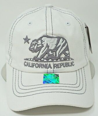 35239524 CALI Ball Cap California Republic Pigment Washed Unstructured Dad Hat OSFM  NWT