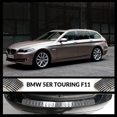 BMW 5 Series F11 Estate Rear Bumper Chrome Cover / Protector Stainless Steel