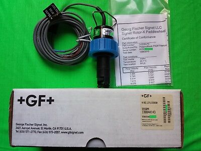 New GF Signet 32536P0, 3-2536-P0, 198840143, Lo Flow Paddle Wheel Flow Sensor
