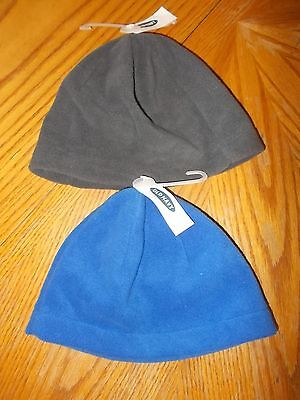 Boys Size Large-XL Old Navy Blue & Gray Lightweight Fleece Hats Lot Of 2 NWT