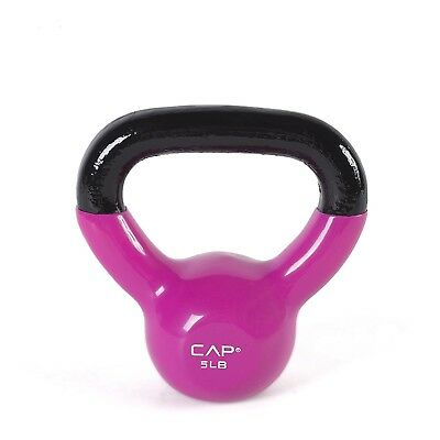 (2.3kg, Pink) - CAP Vinyl Coated Kettlebell. CAP Barbell. Shipping Included