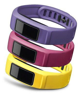 (Small, Canary/Pink/Violet) - Garmin Small Coloured Wrist Band for Vivofit 2 -