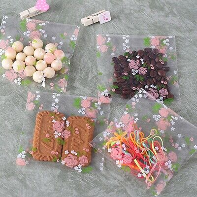 100pcs Self Adhesive Bags Seal Plastic Candy Cookie Birthday Wedding Gift Pouch