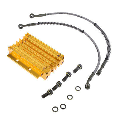 Gold CNC Engine Oil Cooler/Radiator Kit 125cc 150cc PIT PRO Trail Dirt Bike