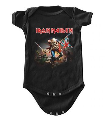 Iron Maiden The Trooper Baby Romper T-Shirt All Sizes New