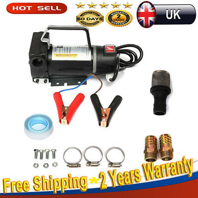 Portable 12V Diesel Fluid Extractor Electric Transfer Pump Car Fuel Auto 45L/min