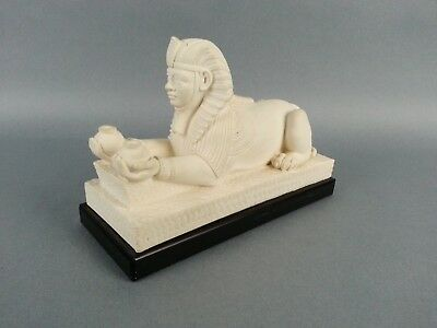 Figure Made in Italy Great Sphynx Statuette Egypt Egyptian Style Decor