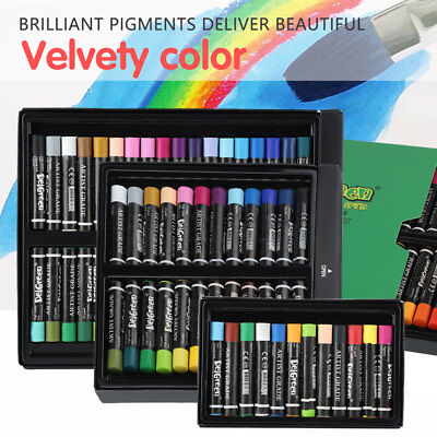 12/24/36 Colors Oil Pastels Set Assorted Crayons Artists Drawing Painting Kit im