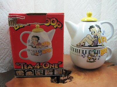 Official Licensed Betty Boop Tea For One Teapot & Cup with Box