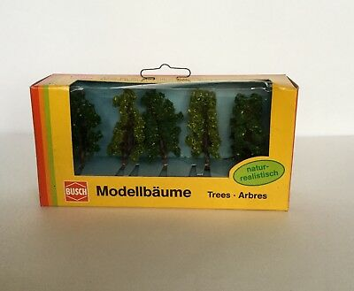 N SCALE  BUSCH TREES X5 , 70mm TALL