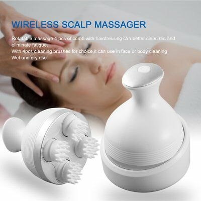 Electric Head Massage Wireless Scalp Massager Promote Hair Growth TooSQ