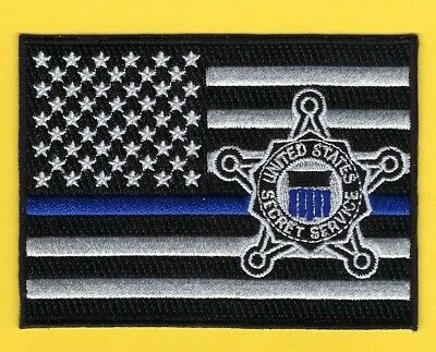 United States Secret Service Thin Blue Line Subdued Flag Patch ~ Outstanding
