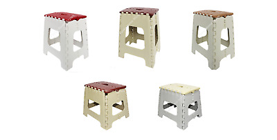 Multi Purpose Folding Step Stools Foldable Seat Ladders Easy Carry Storage Handy
