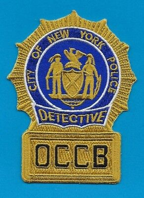 New York City Police Department Organized Crime Control Bureau Detective Patch