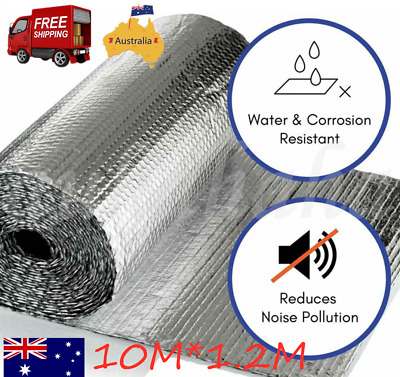 10M*1.2M Silver Air Bubble Heat Insulation Aluminium Foil Barrier Reflective AU