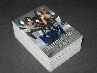 KISS Series II - Blue Foil Complete Trading Card Set (90) Conerstone - 1998 - NM