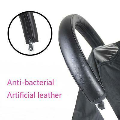 Pram Accessories Armrest Handle Leather Case Cover For Baby Stroller Protective