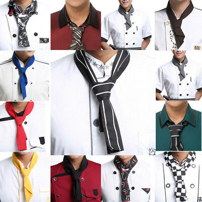 Red Yellow Blue Black Coffee Chili Fashion Cooking Chef Scarf Neckerchief