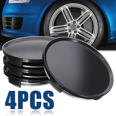 4pcs/set Universal 63mm Car Vehicle Wheel Center Hub Cap Cover NO Badge Black