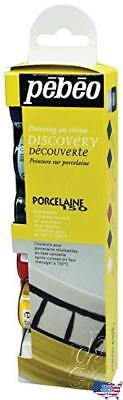 Pebeo Porcelaine 150 China Paint, Discovery Collection of 6 Assorted 20-Millilit
