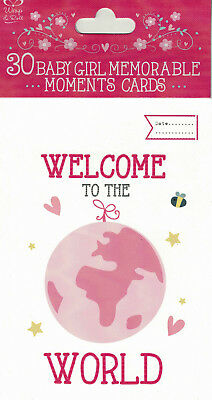 30 Baby Girl Milestone Cards Memorable Moments Photo Baby Shower Pregnancy Gift