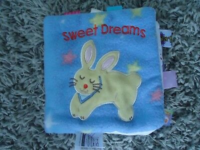 Taggies Sweet Dreams My First Taggies Baby Book Blue Kitty Bunny Puppy Tags