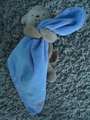 Child Of Mine By Carters Captain Adorable Lovey Security Blanket Blue Monkey