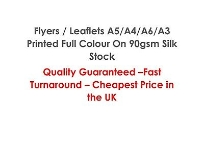 100 A5 Flyers / Leaflets Printed Full Colour On 90gsm - Single or Double Sided
