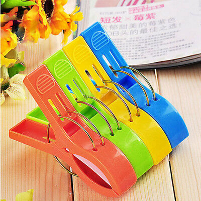 4Pcs Plastic Large Clip For Beach Towel Sun Cloths Clip Lounger Sunbed Peg
