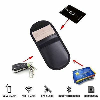 Car Key Signal Blocker Case Faraday Cage Fob Pouch Keyless RFID Blocking Bag