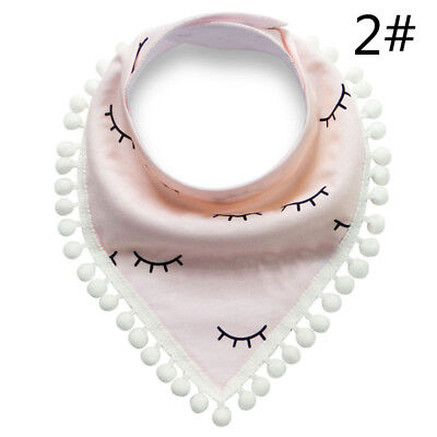 New Baby Cute Cotton Saliva Towels Double Layer Waterproof Lace Triangular Scarf