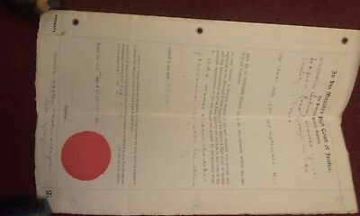 20th century probate Legal Papers 1952 Dated Signed  vintage Document