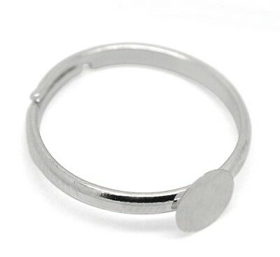 Ring-Rohlinge with Adhesive Surface Plate Diy Jewellery Making Adjustable Size