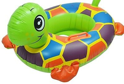 Turtle Shaped Inflatable Baby/Toddler Swim Boat