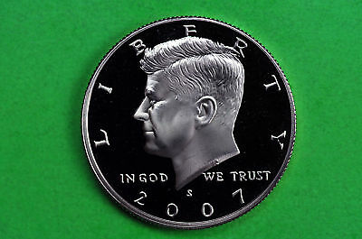2007-S GEM Proof  Deep Cameo (Kennedy) US Half Dollar Coin (c/n clad)