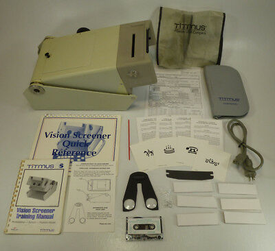Titmus 2S Eye Vision Screener w/ Manual, New Bulbs, & Numerous Accessories (#3)