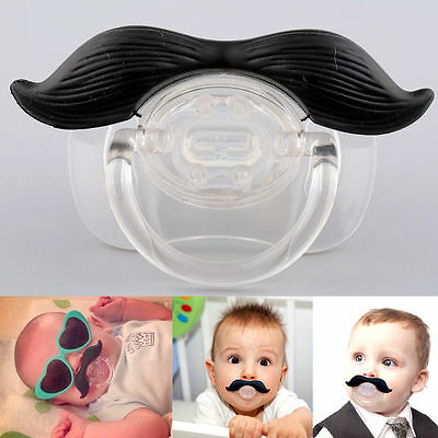 Funny Mustache Baby Boys Girl Infant Pacifier Orthodontic Dummy Nipples BE