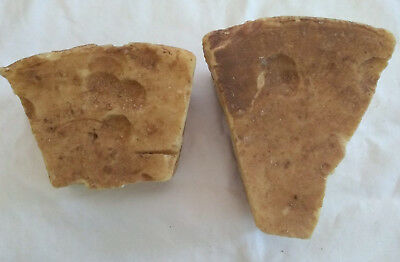 Lot of Vintage Lye Soap 2-bars about 2-pounds  Home Made - All Natural Primitive